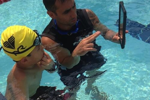 iPad Swimming