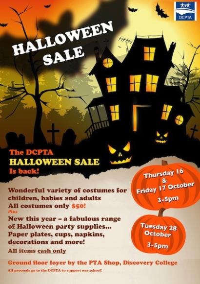 PTA Halloween Sale
