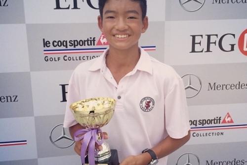 Student wins golf