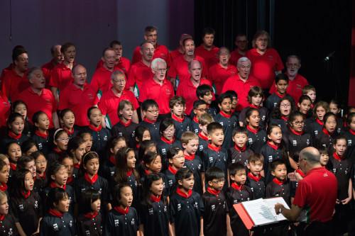 Cobra Choir performs with HK Welsh Male Choir