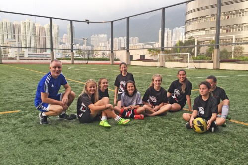 U14 Girls Football Contend for the Cup