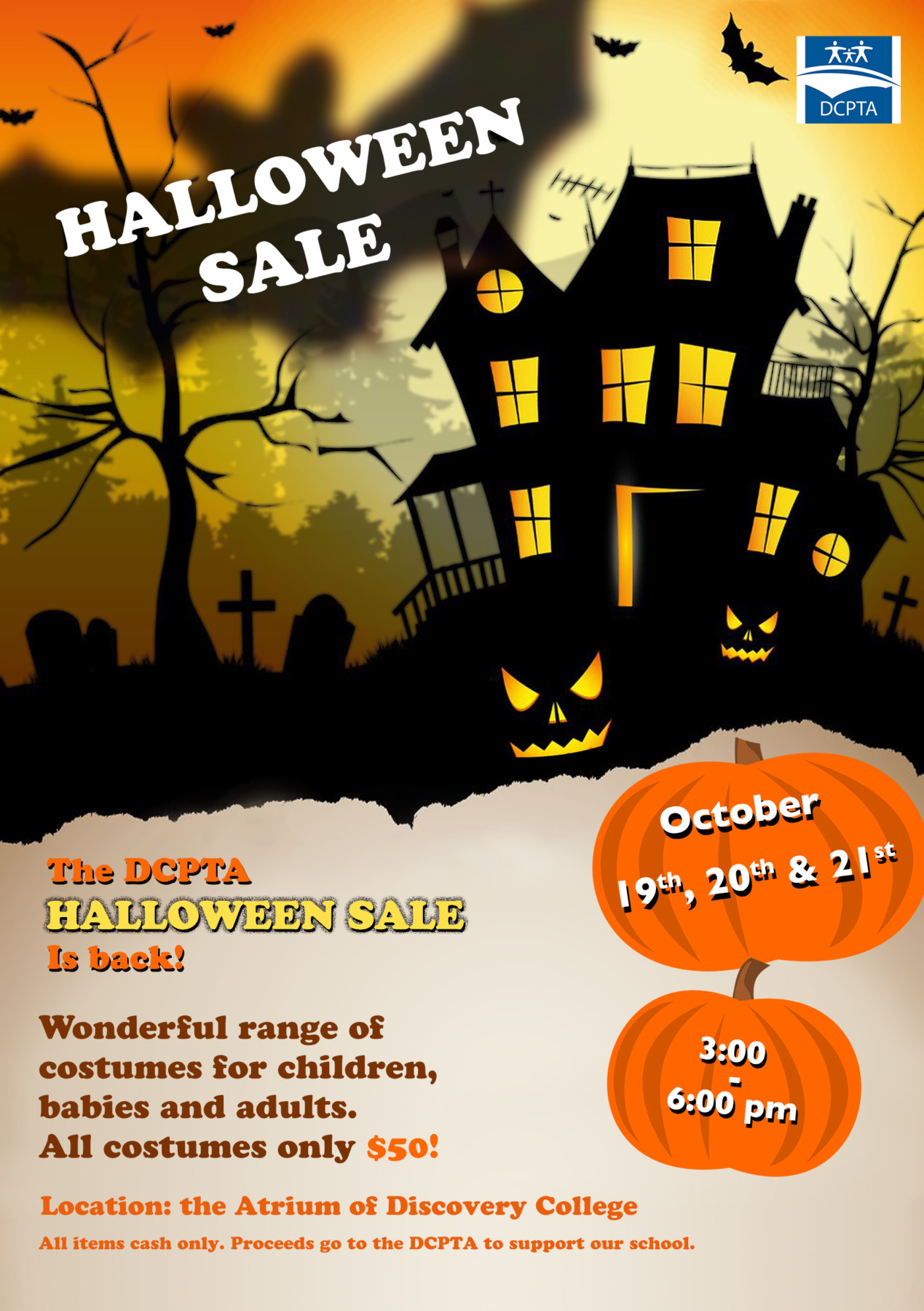 the explorer – save the date – the pta halloween costume sale